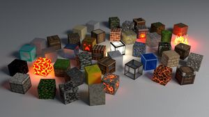 Preview wallpaper cubes, shape, glow, background
