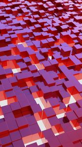 Preview wallpaper cubes, structure, 3d, red