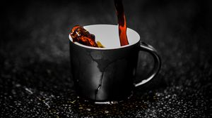Preview wallpaper cup, spray, drops, tea