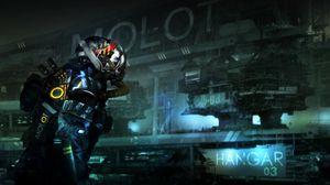Preview wallpaper cyborg, cyberpunk, respirator, fantasy, fiction