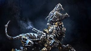 Preview wallpaper cyborg, robot, animal, iron