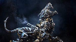 Preview wallpaper cyborg, robot, animal, iron