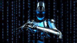 Preview wallpaper cyborg, robot, figures