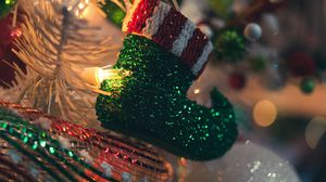 Preview wallpaper decoration, garland, holiday, new year, christmas