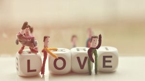 Preview wallpaper dice, toys, letters, love