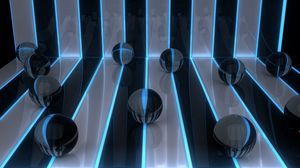 Preview wallpaper digital art, 3d, balls, bands