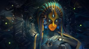Preview wallpaper digital art, woman, cyborg