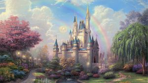 Preview wallpaper disneyland, park, art, fairy, painting