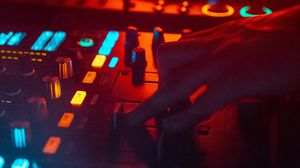 Preview wallpaper dj, mixer, hand, equalizer, electronic, music