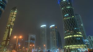 Preview wallpaper doha, qatar, uae, skyscrapers