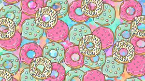 Preview wallpaper donuts, patterns, sweet, colorful, texture