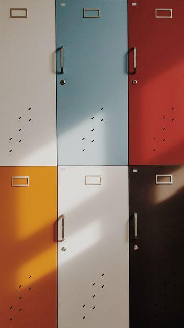 360x640 Wallpaper doors, lockers, retro, multicolored