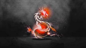 Preview wallpaper dragon, background, light, shadow