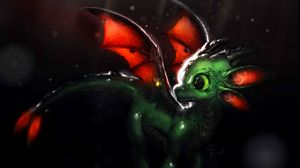 Preview wallpaper dragon, creature, cute, art, fiction