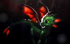 Preview wallpaper dragon, creature, cute, art, fiction