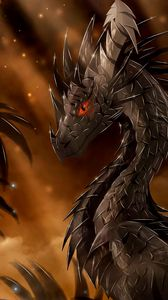 Preview wallpaper dragon, fantasy, art, creature, view