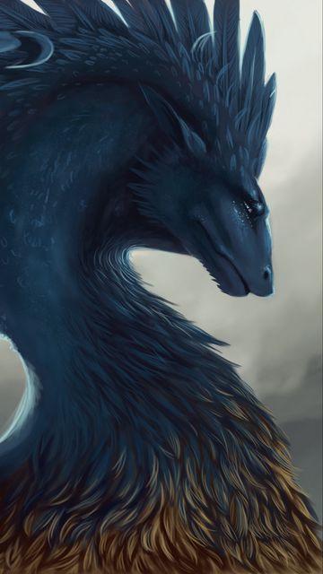 360x640 Wallpaper dragon, fantasy, art, feathers