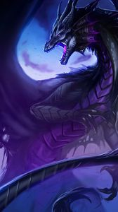 Preview wallpaper dragon, grin, fantasy, creature, art