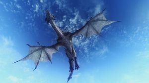 Preview wallpaper dragon, sky, flying, 3d