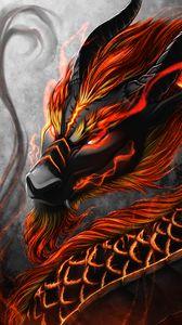 Preview wallpaper dragon, snake, creature, fantasy, art