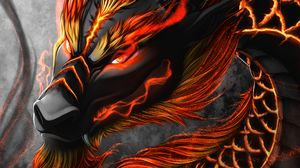 Preview wallpaper dragon, snake, creature, fantasy, art