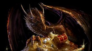 Preview wallpaper dragon, treasure, gold