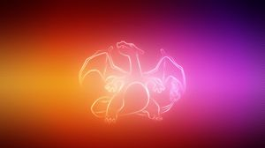 Preview wallpaper dragon, wings, pokemon, charizard