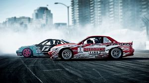 Preview Wallpaper Drift, Nissan, Sport, Cars, Smoke