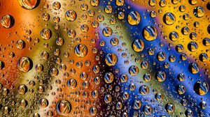 Preview wallpaper drops, wet, surface, colorful, macro