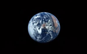 Preview wallpaper earth, planet, black, space