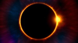 Preview wallpaper eclipse, moon, sun, astronomy, stars