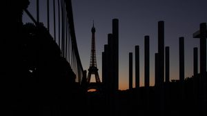 Preview wallpaper eiffel tower, paris, night