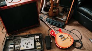 Preview wallpaper electric guitars, guitars, musical instruments, equipment, music