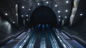 Preview wallpaper elevator, tunnel, metro, station, architecture