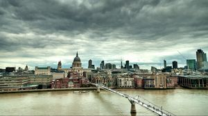 Preview wallpaper england, london, millennium bridge, uk, hdr