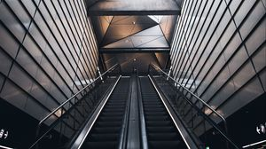 Preview wallpaper escalator, metro, interior, architecture, building