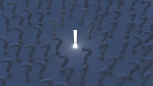 Preview wallpaper exclamation mark, question mark, signs