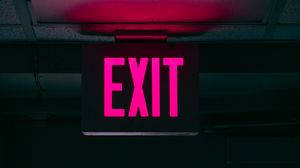 Preview wallpaper exit, sign, pointer, inscription