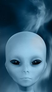 Preview wallpaper extraterrestrial, alien, face, smoke, sky