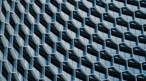 Preview wallpaper facade, architecture, building, hexagons