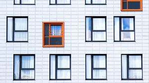 Preview wallpaper facade, windows, building, minimalism, contrast