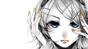 Preview wallpaper face, eyes, blue, blonde