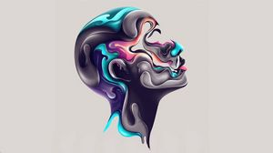 Preview wallpaper face, paint, profile, abstraction