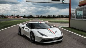 Preview wallpaper ferrari, 458, mm speciale, white, side view