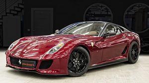 Preview wallpaper ferrari, 599 gto, side view, sports car