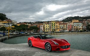 Preview wallpaper ferrari, california, red, side view