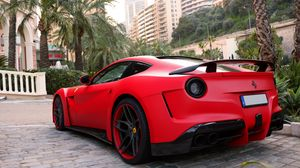 Preview wallpaper ferrari, f12, berlinetta, supercar, novitec rosso, n-largo