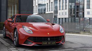 Preview wallpaper ferrari f12, ferrari f12berlinetta, red, gran turismo, sports car