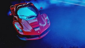 Preview wallpaper ferrari laferrari, ferrari, sports car, race, top view