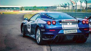 Preview wallpaper ferrari, pirelli, cars, rear view